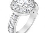 טבעת וינטג יהלום 1 קרט לא גבוה