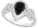 טבעת טיפה יוקרתית יהלום שחור