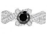 טבעת יהלומים מיוחדת- יהלום שחור מרכזי