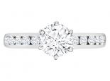 טבעת אירוסין סגנון טיפני יהלומים בשיבוץ מסילה- 0.50 קראט מרכזית