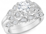 סט טבעות טבעת אירוסין טבעת נישואין תואמות