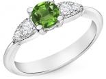 טבעת אירוסין עדינה אבן חן אמרלד ברקת רובי ספיר