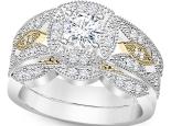 טבעת אירוסין זהב צהוב 30 נקודות יהלום טבעות נישואין וטבעות אירוסין וינטז
