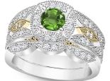 טבעת אירוסין וינטג אבן חן אמרלד איזמרגד ברקת-emerald רובי ספיר