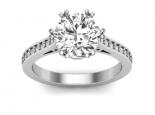טבעת יהלום בעיצוב מיוחד טבעות זהב לבן / צהוב