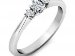 טבעת 3 יהלומים עדינה