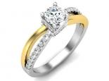 טבעת אירוסין אלגנטית בעיצוב מסובב