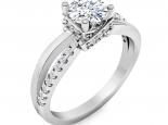 טבעת אירוסין יוקרתית בעיצוב טוויסט יהלום מרכזי 1 קארט