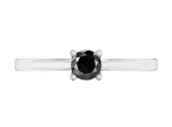טבעת סוליטר עדינה- יהלום שחור מרכזי