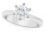 טבעת אירוסין 6 שיניים מחזיקות יהלום 1/2 קארט