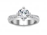 טבעת אירוסין קלאסית- 0.50 קראט מרכזית
