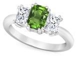 טבעת טריפל בשילוב אבני חן ויהלומים