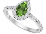 טבעת יהלום בעיצוב טיפה - אבן חן מרכזית