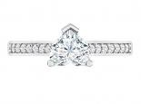טבעת יהלום בצורת לב- 0.30 נקודות מרכזית