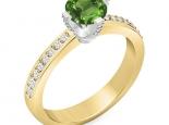 טבעת אירוסין בעיצוב יוקרתי קלסי אבן חן אמרלד רובי ברקת ספיר