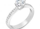 טבעת אירוסין בעיצוב יוקרתי קלסי 1קארט