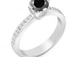 טבעת אירוסין בעיצוב יוקרתי קלסי יהלום שחור