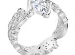 טבעת יהלומים מעוצבת 3/4 קארט מרכזית