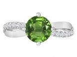 טבעת אבני חן בעיצוב טוויסט