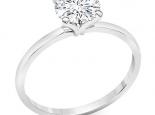 טבעת יהלום עדינה חצי קארט