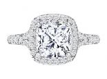 טבעת אירוסין עם אותיות שם יהלום 1 קארט