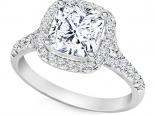 טבעת אירוסין עם אותיות שם חצי קארט יהלום מרכזי