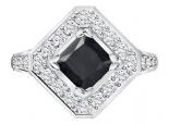 טבעת יהלומים מיוחדת לאישה- יהלום שחור מרכזי