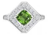 טבעת יהלומים מיוחדת לאישה- אבן חן מרכזית