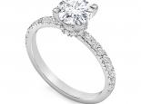טבעת אירוסין קלאסית בעיצוב יוקרתי