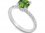 טבעת אירוסין משובצת אבן חן מרכזית אמרלד רובי ספיר
