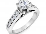 טבעת יהלום 6 שינים בעיצוב וינטז