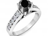 טבעת 6 שינים- יהלום שחור בעיצוב וינטז