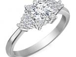 טבעת יהלומים מעוצבת 30 נקודות מרכזית