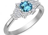 טבעת אבני חן עם יהלומים