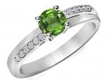 טבעת אירוסין סוליטר 4 שיניים עדינה אבן חן מרכזית