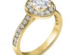 טבעת אירוסין הולו 1 קארט מרכזית