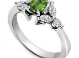טבעת יהלומים מעוצבת אבן חן מרכזית