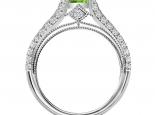 טבעת אירוסין וינטג- טבעות וינטג אבן חן מרכזית