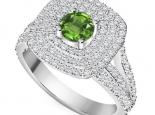טבעת אירוסין הולו מרשימה אבן חן מרכזית