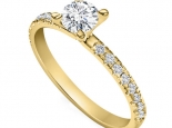 טבעת אירוסין קלאסית עדינה 30 נקודות