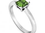 טבעת אירוסין סוליטר יהלום פרינסס- אבן חן מרכזית