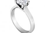 טבעת יהלום סוליטר קלאסית