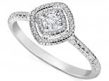 טבעת יהלומים הולו- יהלום מרכזי 30 נקודות