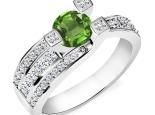 טבעת אבן חן מרשימה ביופייה עם 3 שיניים