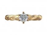 טבעת אירוסין- טבעת סוליטר 3/4 קראט מרכזית