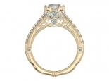 טבעת אירוסין זהב בעיצוב וינטג'- 0.30 נקודות