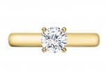 טבעת אירוסין זהב צהוב סוליטר - 1 קראט מרכזית