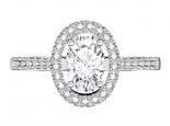 טבעת יהלום אובל- 0.30 נקודות מרכזית