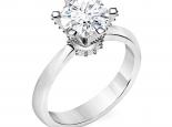 טבעת אירוסין סוליטר מיוחדת- 0.50 קראט מרכזית