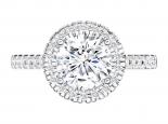 טבעת אירוסין מיוחדת בעיצוב הולו